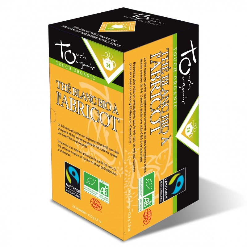 Thé blanc à l'abricot BIO 43,2 grs 6X24 sachets
