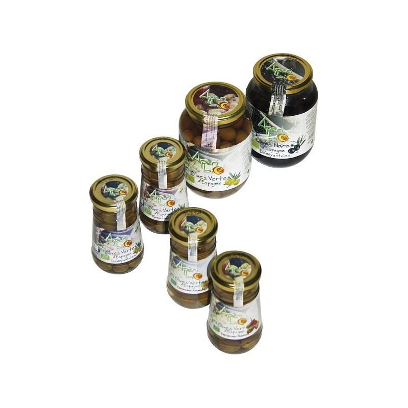 Olives noires BIO dénoyautées (12x270grs)